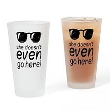 Mean Grls Drinking Glass