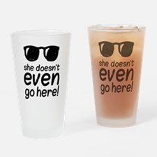 Mean Grls Drinking Glass