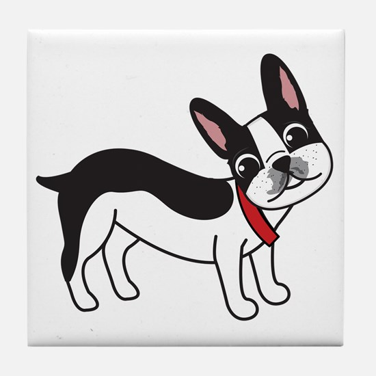 Boston Terrier Chuy Tile Coaster