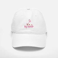 Pink Giraffe Big Sister Baseball Baseball Cap