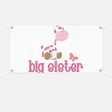 Pink Giraffe Big Sister Banner
