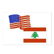 American and Lebanese Flag Postcards (Package of 8