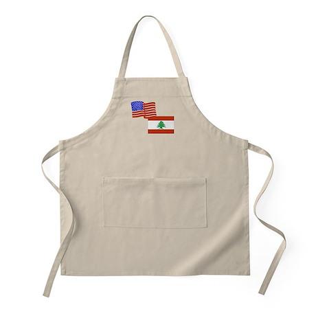 American and Lebanese Flag BBQ Apron