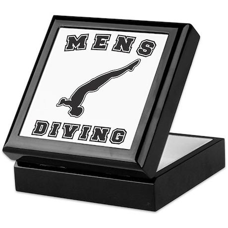 Black Men's Diving Logo Keepsake Box