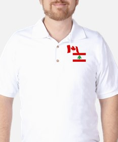 Canadian and Lebanese Flag T-Shirt