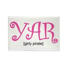 Girly Pirate Rectangle Magnet (100 pack)