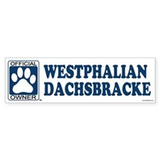 WESTPHALIAN DACHSBRACKE Bumper Bumper Sticker