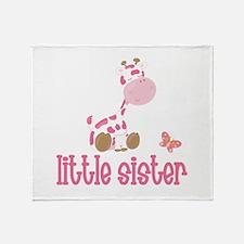 Little Sister Giraffe Throw Blanket