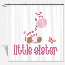 Little Sister Giraffe Shower Curtain