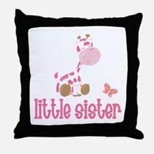 Little Sister Giraffe Throw Pillow