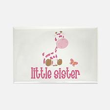 Little Sister Giraffe Rectangle Magnet