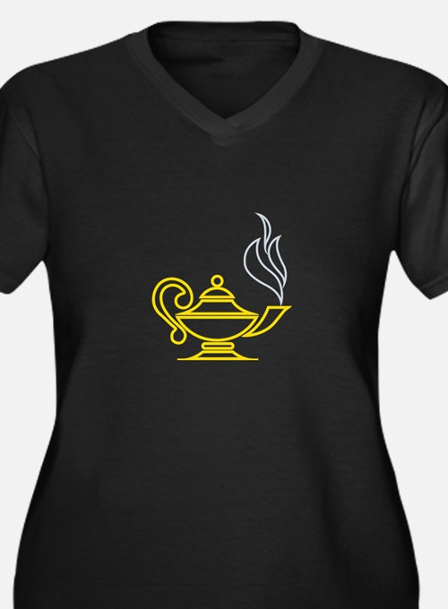 Lamp of Knowledge Plus Size T-Shirt