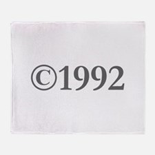 Copyright 1992-Gar gray Throw Blanket