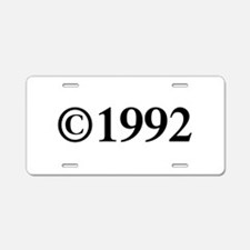 Copyright 1992-Tim black Aluminum License Plate