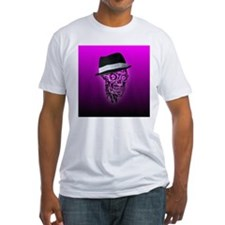Elegant Skull with hat,hot pink T-Shirt