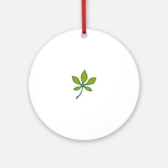 Ohio Buckeye Leaf Ornament (Round)