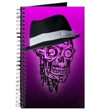 Elegant Skull with hat,hot pink Journal