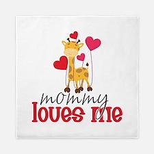 Mommy Loves Me Giraffe Hearts Queen Duvet