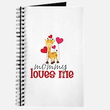 Mommy Loves Me Giraffe Hearts Journal