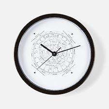 star chart 45N Wall Clock