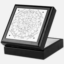 star chart 45N Keepsake Box