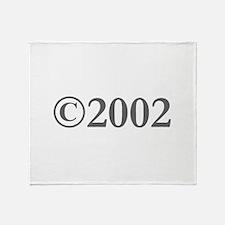Copyright 2002-Gar gray Throw Blanket