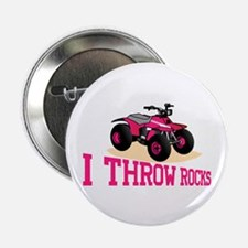 """I Throw Rocks 2.25"""" Button (10 pack)"""