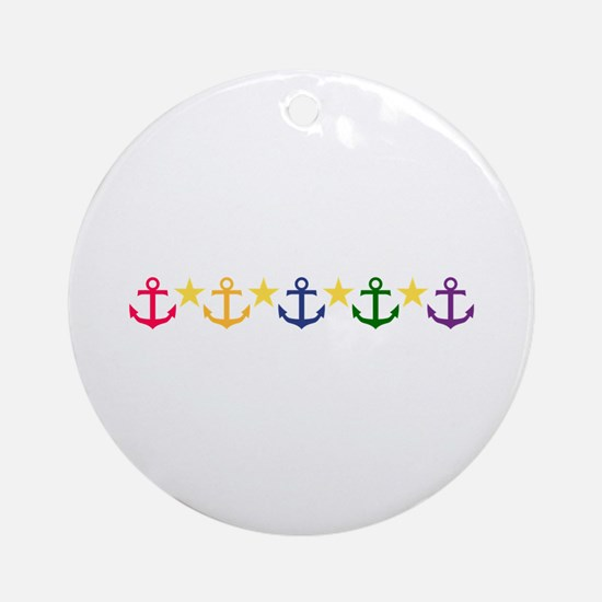 Anchors Ornament (Round)