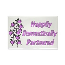 Happily Domestically Partnered Rectangle Magnet