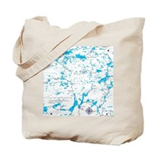 BWCA map Sawbill Tote Bag