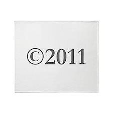 Copyright 2011-Gar gray Throw Blanket