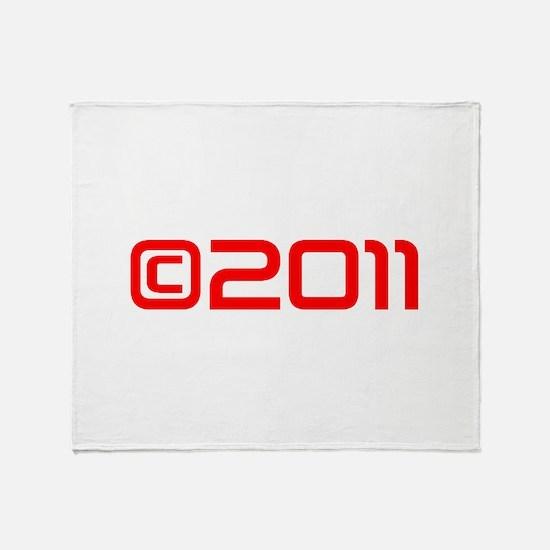Copyright 2011-Sav red Throw Blanket