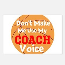 Dont Make Me Use My Coach Voice Postcards (Package