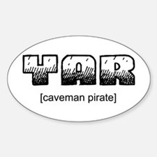 Caveman Pirate Oval Decal