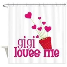 Gigi Loves Me Shower Curtain