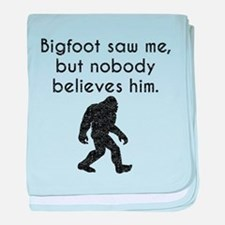 Bigfoot Saw Me (Distressed) baby blanket