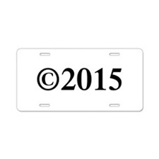Copyright 2015-Tim black Aluminum License Plate