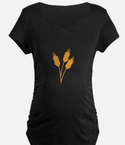 Wheat Stalk Maternity T-Shirt