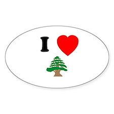 I heart Cedar Oval Decal