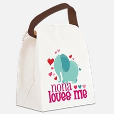 Nona Loves Me - Elephant Canvas Lunch Bag