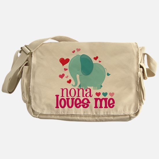 Nona Loves Me - Elephant Messenger Bag