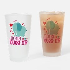 Nona Loves Me - Elephant Drinking Glass