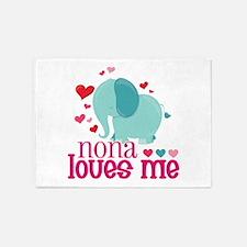 Nona Loves Me - Elephant 5'x7'Area Rug