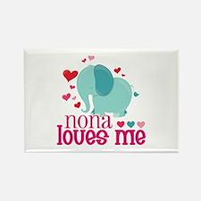 Nona Loves Me - Elephant Rectangle Magnet