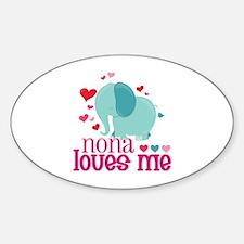 Nona Loves Me - Elephant Sticker (Oval)