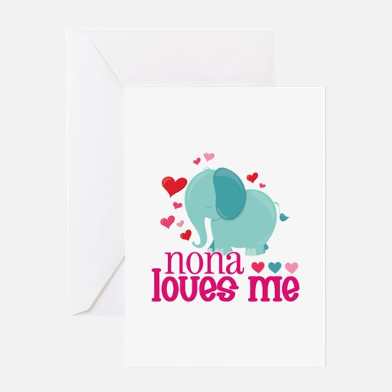 Nona Loves Me - Elephant Greeting Card