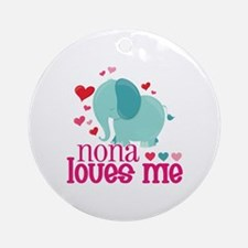 Nona Loves Me - Elephant Ornament (Round)