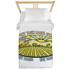 Support Your Local Farmers Twin Duvet