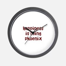 happiness is being Phoenix Wall Clock