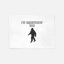 Im Squatchin You (Distressed) 5'x7'Area Rug